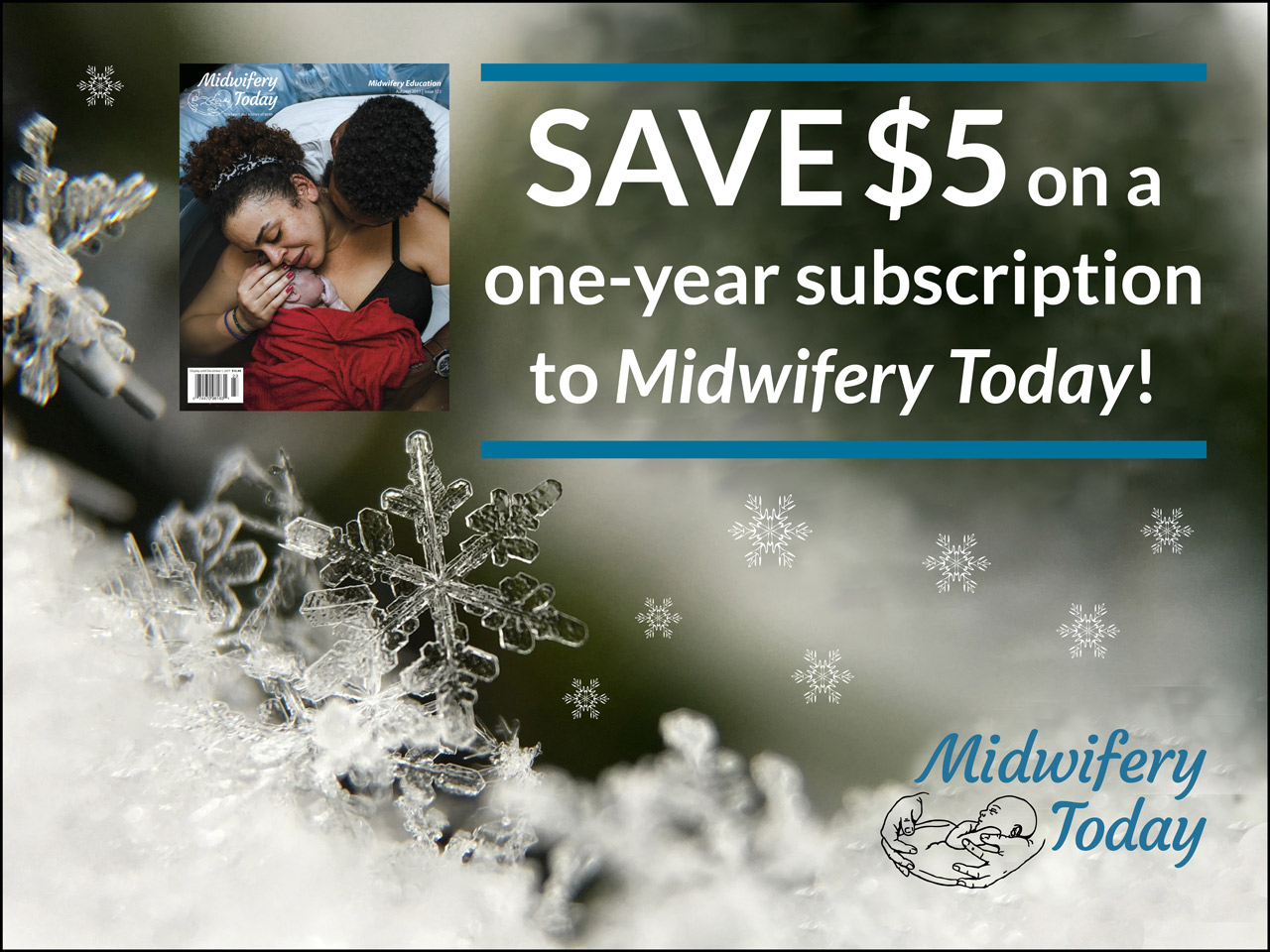 Save $5 on a Midwifery Today subscription