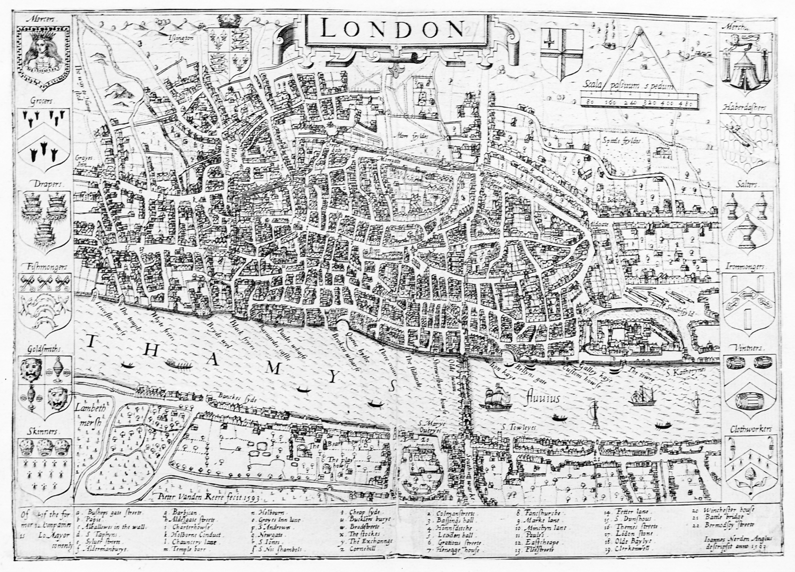 M0012961 Map of the city of London.